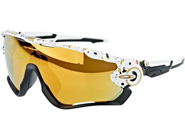 Oakley Jawbreaker Lunettes de soleil, splatterhite/24k iridium